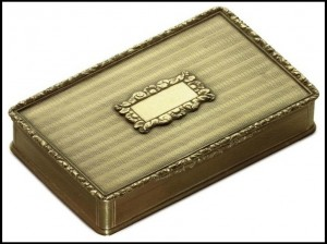 Gold American Snuff Box
