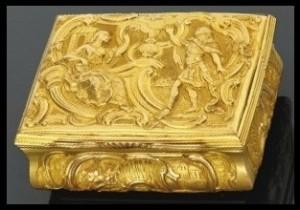 Gold English Snuff Box