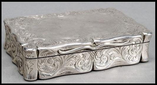 Silver English Snuff Box