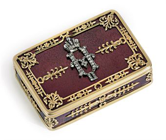 Russian snuffbox by Faberg