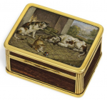 English snuffbox by Charles Rawlings and William Summers