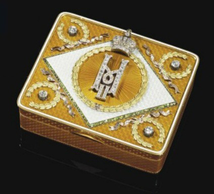 Russian snuffbox by K. Hahn and Carl Blank