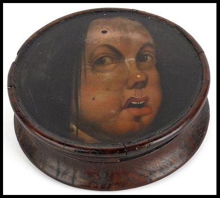 Antique Wood Snuff Box
